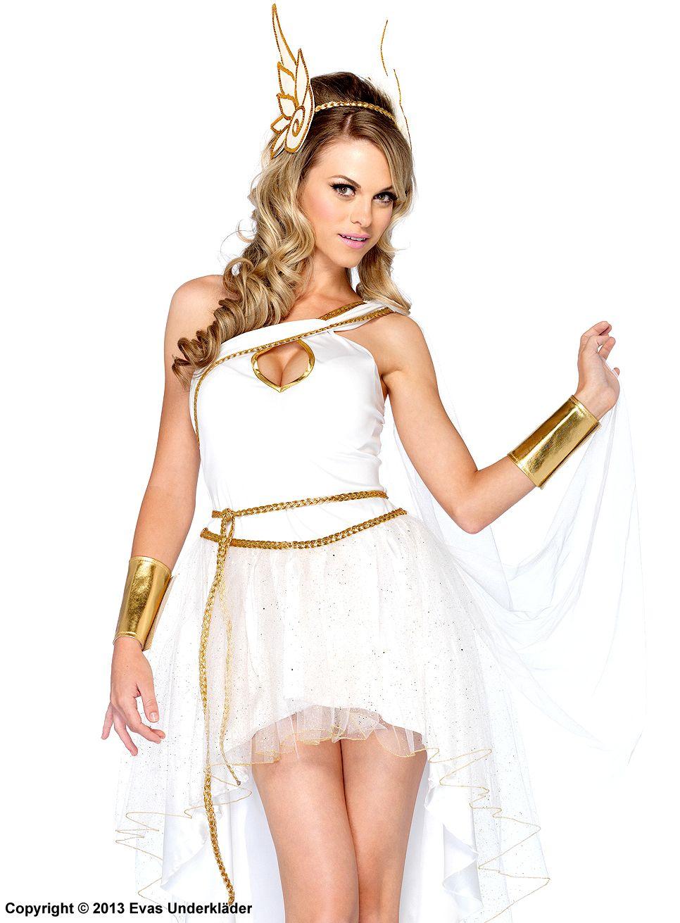 Grekisk gudinna, maskeraddräkt i tre delar